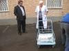 Передача стройматериала детской областной больнице.